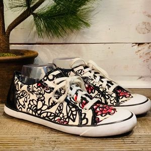 Coach Barrett Womens Floral Graffiti Sneakers 10